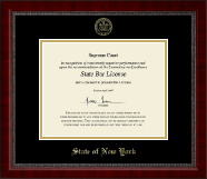 Gold Embossed Certificate Frame in Sutton