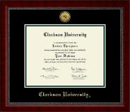 Clarkson University Gold Engraved Medallion Diploma Frame in Sutton