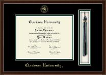 Clarkson University Tassel Edition Diploma Frame in Delta