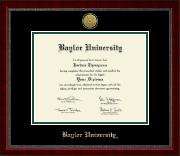 Baylor University Gold Engraved Medallion Diploma Frame in Sutton