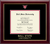 Ball State University Masterpiece Medallion Diploma Frame in Gallery