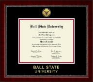 Ball State University Gold Engraved Medallion Diploma Frame in Sutton