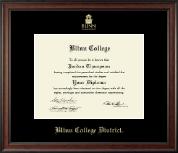 Blinn College Gold Embossed Diploma Frame in Studio