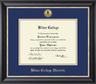 Blinn College Gold Engraved Medallion Diploma Frame in Noir