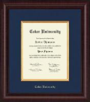 Coker University Presidential Edition Diploma Frame in Premier