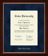 Coker University Gold Embossed Diploma Frame in Murano