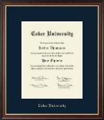 Coker University Gold Embossed Diploma Frame in Studio Gold