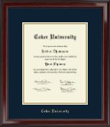 Coker University Gold Embossed Diploma Frame in Encore