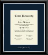 Coker University Silver Embossed Diploma Frame in Onyx Silver
