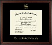 Ferris State University Gold Embossed Diploma Frame in Studio
