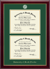 Double Diploma Masterpiece Medallion Frame in Gallery
