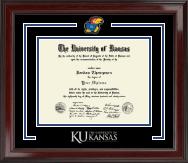 JayHawk Spirit Medallion Diploma Frame in Encore