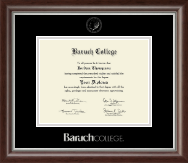 Baruch College Silver Embossed Diploma Frame in Devonshire