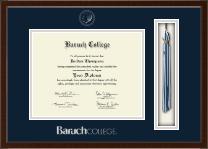 Baruch College Tassel Edition Diploma Frame in Delta