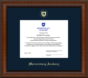 Gold Embossed Shield Diploma Frame in Austin