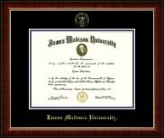 James Madison University Gold Embossed Diploma Frame in Murano