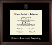 Illinois Institute of Technology Silver Embossed Diploma Frame in Studio