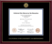 Gold Engraved Medallion Diploma Frame in Galleria