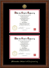 Gold Engraved Double Diploma Frame in Austin