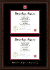 MSOE Masterpiece Double Diploma Frame in Lenox