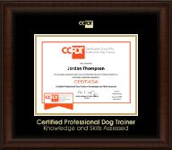 Gold Embossed CPDT-KSA Certificate Frame in Lenox