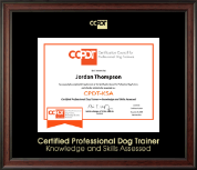 Gold Embossed CPDT-KSA Certificate Frame in Studio