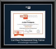 Silver Embossed CPDT-KA Certificate Frame in Onyx Silver