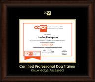 Gold Embossed CPDT-KA Certificate Frame in Lenox