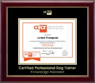Gold Embossed CPDT-KA Certificate Frame in Gallery