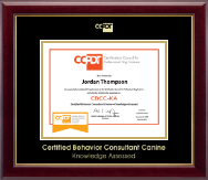 Gold Embossed CBCC-KA Certificate Frame in Gallery