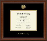Gold Engraved Medallion Diploma Frame in Austin