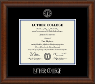 Silver Embossed Diploma Frame in Austin