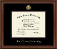 Lock Haven University Gold Engraved Medallion Diploma Frame in Austin