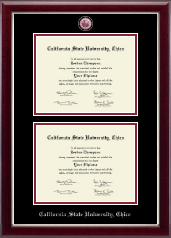 Masterpiece Medallion Double Diploma Frame in Gallery Silver