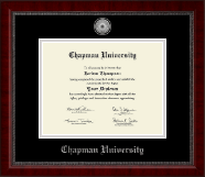 Silver Engraved Medallion Diploma Frame in Sutton