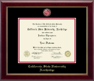 California State University Northridge Masterpiece Medallion Diploma Frame in Gallery
