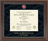 California State University Northridge Regal Edition Diploma Frame in Chateau
