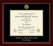 California State University Northridge Gold Engraved Medallion Diploma Frame in Sutton