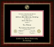 California State University Northridge Gold Embossed Diploma Frame in Murano