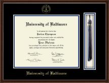 University of Baltimore Tassel Edition Diploma Frame in Delta