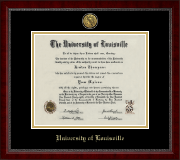 Gold Engraved Medallion Diploma Frame in Sutton