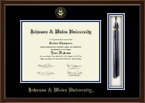Johnson & Wales University in Rhode Island Tassel Edition Diploma Frame in Delta