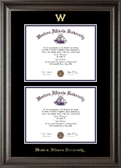 Double Diploma Frame in Acadia