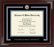 Johnson & Wales University in Rhode Island Showcase Edition Diploma Frame in Encore