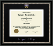 Dimensions Diploma Frame in Noir