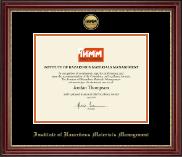 Gold Engraved Medallion Certificate Frame in Kensington Gold