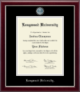 Longwood University Masterpiece Medallion Diploma Frame in Gallery Silver