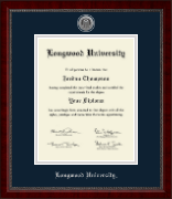 Longwood University Silver Engraved Medallion Diploma Frame in Sutton