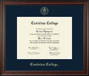 Canisius College Gold Embossed Diploma Frame in Studio