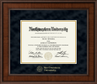 Gold Embossed Diploma Frame in Madison